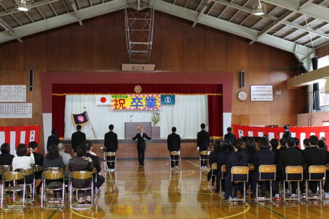 中学校卒業式・・tags[北海道]