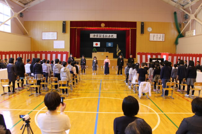 小学校卒業式tags[北海道]