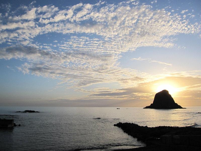 奥尻島の奇岩